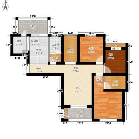 御品世家3室0厅1卫1厨134.00㎡户型图
