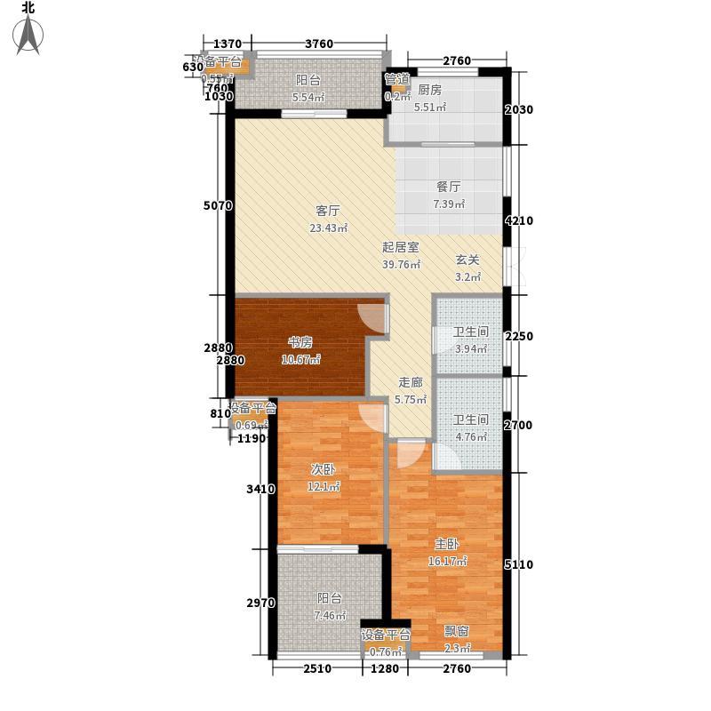 罗马都市134.00㎡128#03单元3室户型