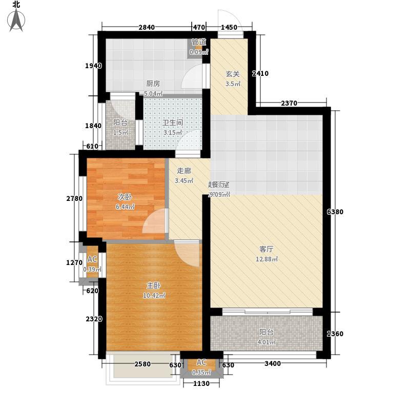 新华联广场81.50㎡B-2户型2室2厅1卫户型2室2厅1卫