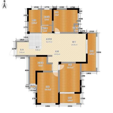 平湖观邸3室0厅2卫1厨132.00㎡户型图
