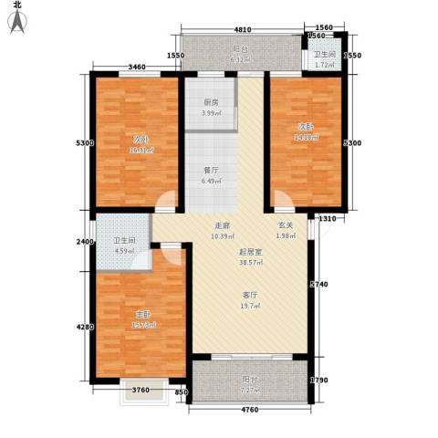 朝阳嘉苑3室0厅2卫1厨154.00㎡户型图