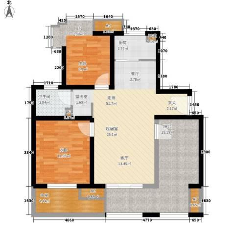 新里魏玛公馆2室0厅1卫1厨88.00㎡户型图
