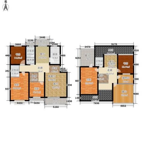 金宸花园5室1厅3卫1厨300.22㎡户型图