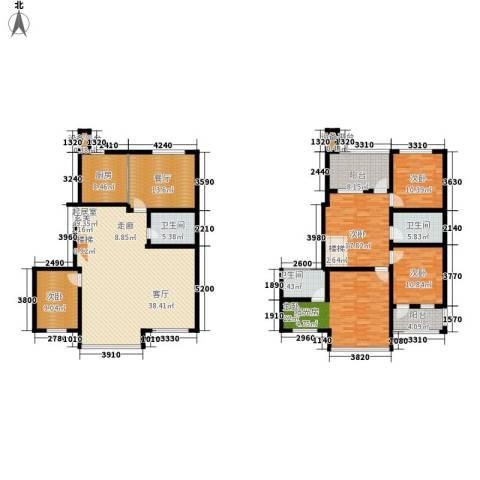 佳华世纪新城C区5室1厅3卫1厨240.00㎡户型图