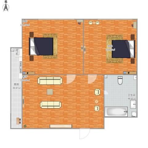 金盛家园2室1厅1卫1厨588.00㎡户型图