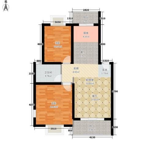 御景庄园2室0厅1卫0厨83.00㎡户型图