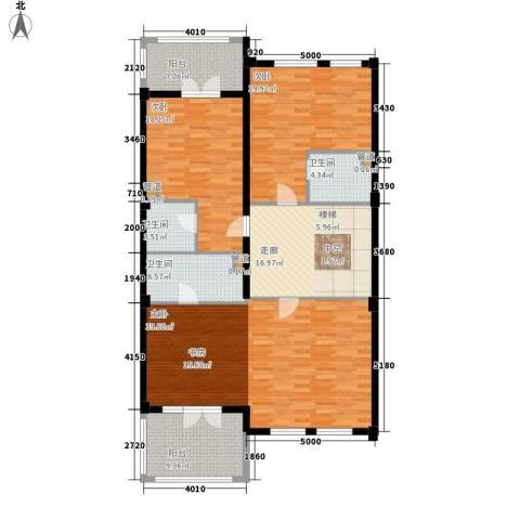 绿城慈溪玫瑰园3室0厅3卫0厨131.00㎡户型图