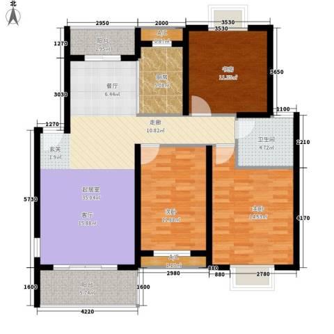 御景庄园3室0厅1卫1厨106.00㎡户型图