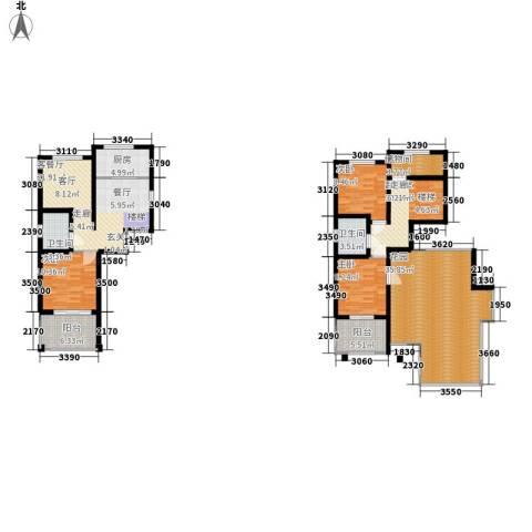 天赋庄园3室1厅2卫1厨178.00㎡户型图