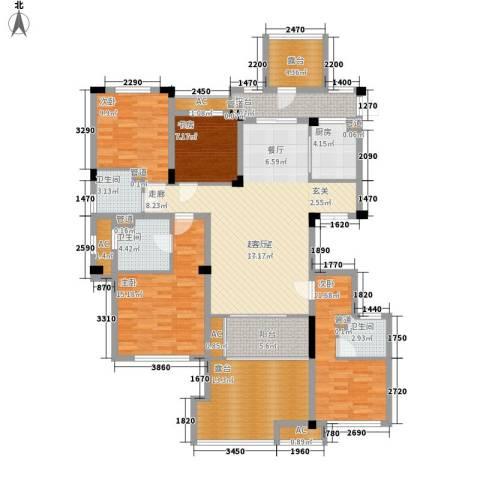 南昌莱蒙都会4室0厅3卫1厨147.00㎡户型图