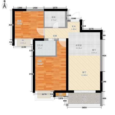 西市佳园2室0厅1卫1厨83.00㎡户型图