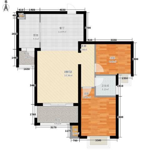 新华联广场2室0厅1卫1厨103.00㎡户型图