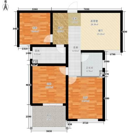 谦诚水岸枫情3室0厅1卫1厨119.00㎡户型图