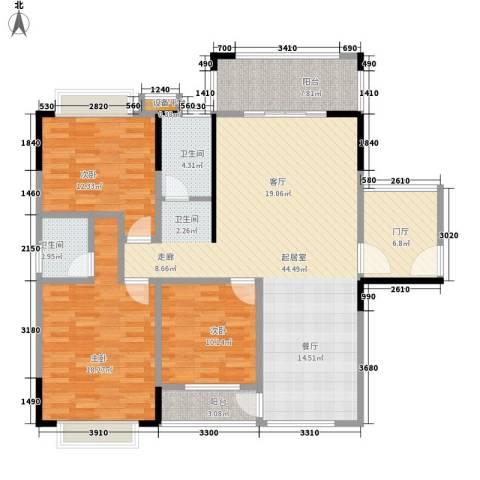 德雅园3室0厅2卫0厨155.00㎡户型图