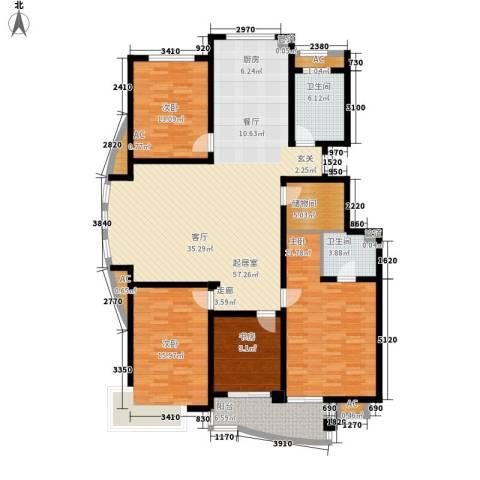 宜家花城4室0厅2卫0厨159.00㎡户型图