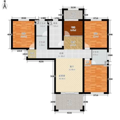 谦诚水岸枫情4室0厅2卫1厨176.00㎡户型图