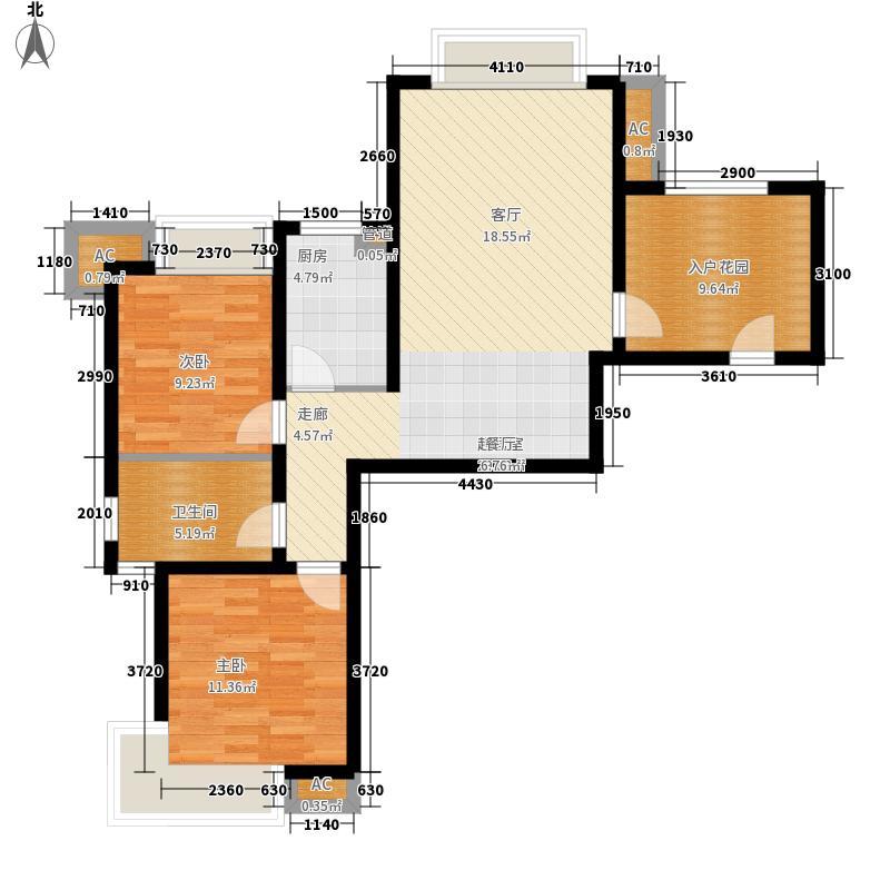 新华联广场89.60㎡A-1户型2室2厅1卫户型2室2厅1卫