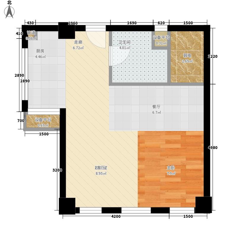 怡景.聚贤庭61.20㎡E3单身公寓 一室一厅 61.20㎡户型1室1厅
