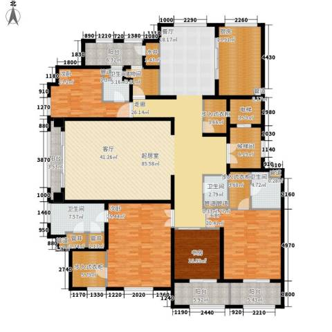 上河湾4室0厅4卫1厨275.00㎡户型图