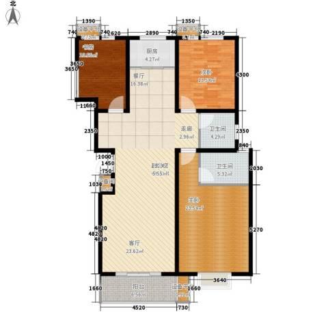 通衢苑3室0厅2卫1厨168.00㎡户型图