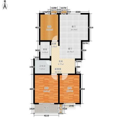 通衢苑3室0厅1卫1厨151.00㎡户型图