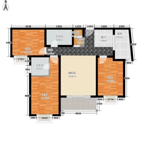 卓达星辰一号3室0厅2卫1厨127.00㎡户型图