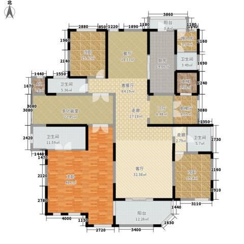 海珀兰轩3室1厅4卫1厨366.00㎡户型图