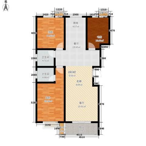 通衢苑3室0厅2卫0厨164.00㎡户型图