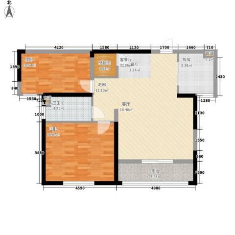 凯润花园2室1厅1卫1厨88.00㎡户型图