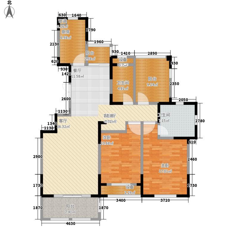 东方维罗纳133.00㎡E户型3室2厅
