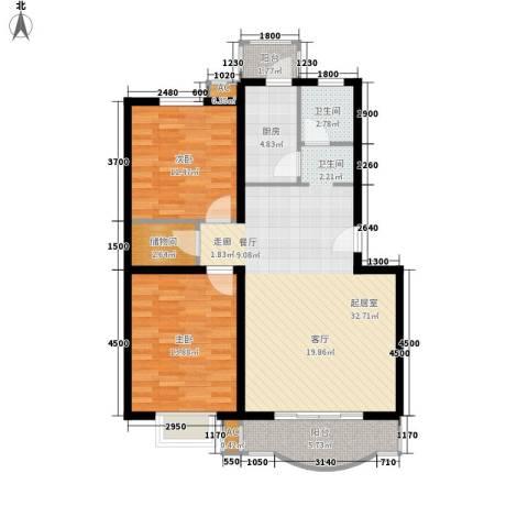 民政小区2室0厅1卫1厨109.00㎡户型图