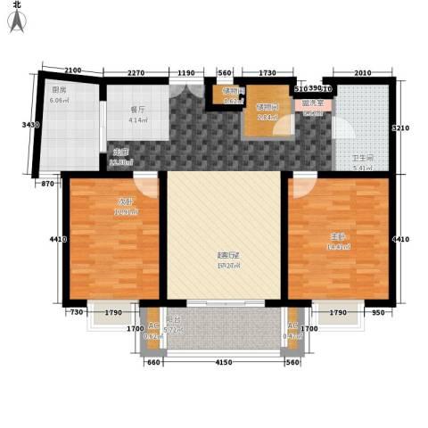 卓达星辰一号2室0厅1卫1厨117.00㎡户型图