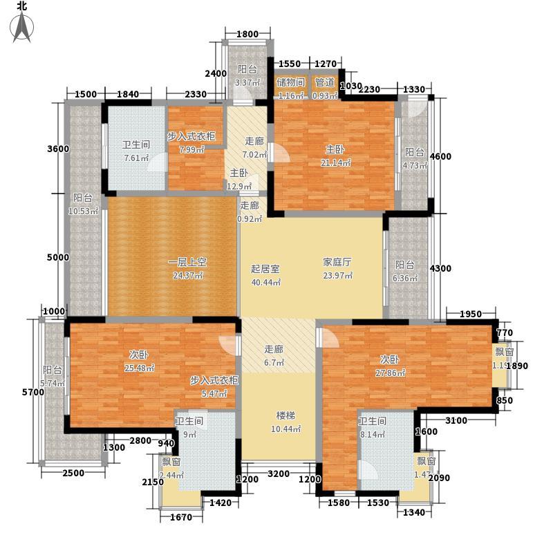 侨建御溪谷552.00㎡F26层上层户型