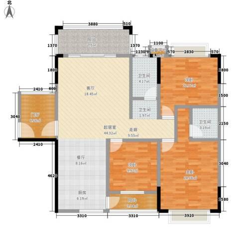 德雅园3室0厅2卫0厨154.00㎡户型图