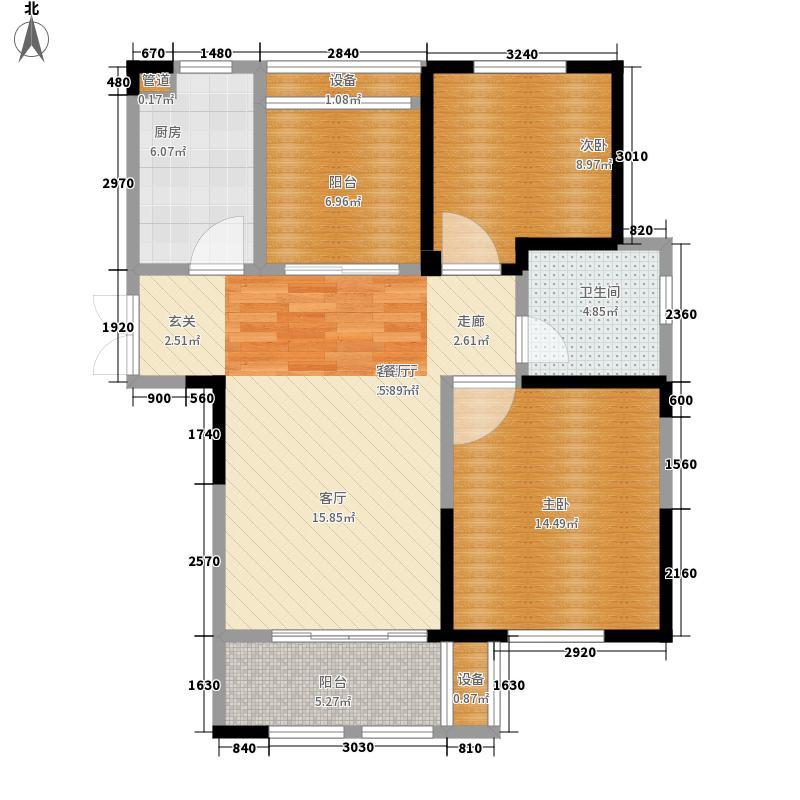 东方维罗纳88.00㎡C户型2室2厅