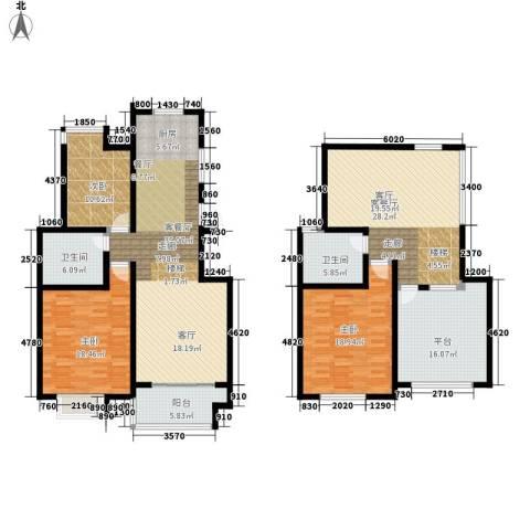 悦海世家二期3室2厅2卫0厨168.00㎡户型图