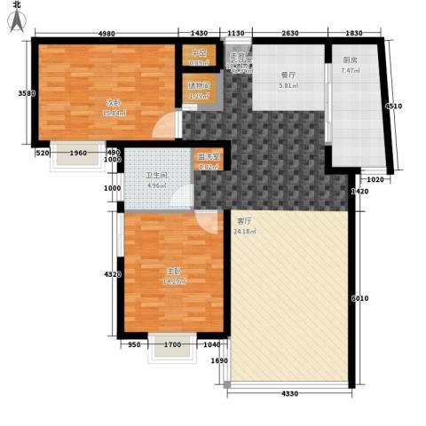 卓达星辰一号2室0厅1卫1厨105.00㎡户型图