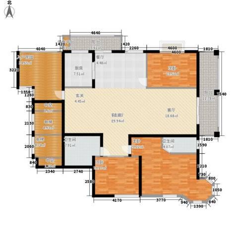 凯润花园3室1厅2卫1厨204.00㎡户型图