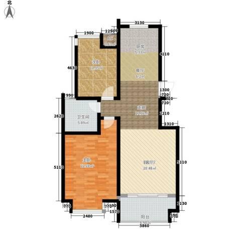 悦海世家二期2室1厅1卫0厨104.00㎡户型图