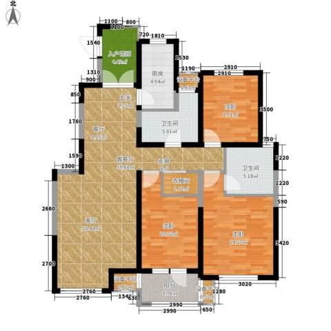 宏泰·美树3室1厅2卫1厨136.00㎡户型图