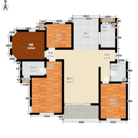 亚厦风和苑4室1厅2卫1厨146.00㎡户型图