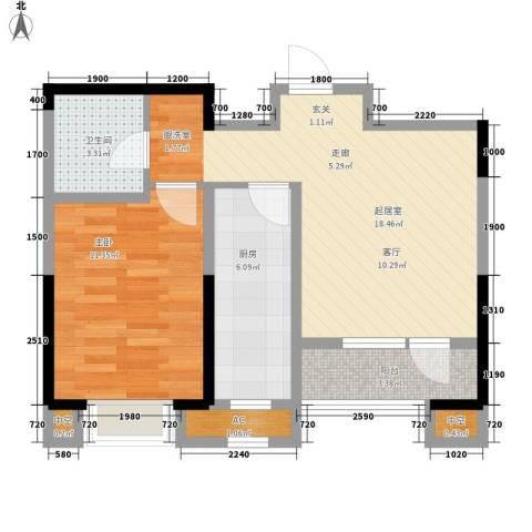 金侨大道1室0厅1卫1厨64.00㎡户型图