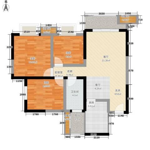 神州南都3室0厅1卫1厨97.00㎡户型图