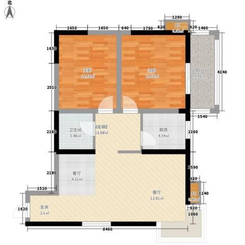 曲江春晓苑2室0厅1卫1厨96.00㎡户型图