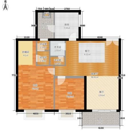 南国公馆2室1厅0卫1厨107.00㎡户型图