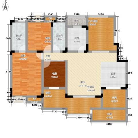 中铁山水天下3室1厅2卫1厨113.00㎡户型图