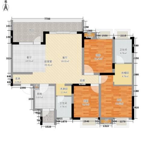 希望城3室0厅2卫1厨129.00㎡户型图