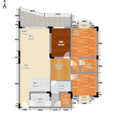 银海峰景5室1厅1卫1厨119.00㎡户型图