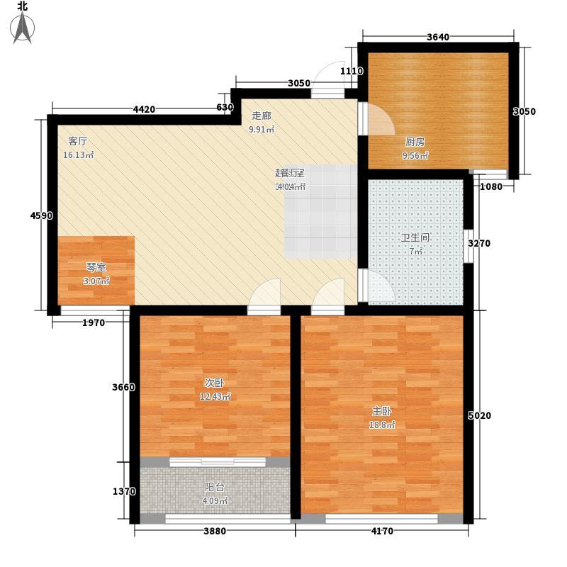 颐润园98.00㎡高层A2户型