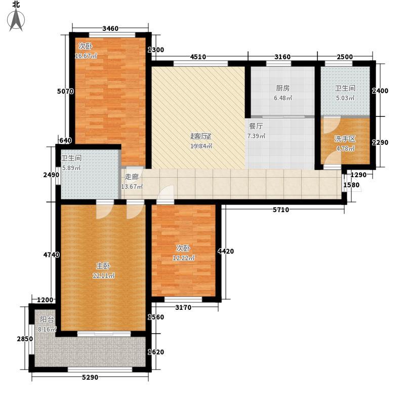 颐润园138.46㎡高层A4户型